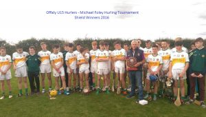 Offaly U15 Michael Foley Shield WInners 2015