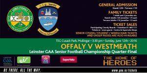 Offaly v Westmeath LSFC – Sunday 3:30pm Mullingar