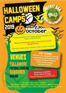 """Offaly GAA announce their """"Spooktacular"""" Halloween Camp"""