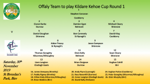 Offaly Team to play Kildare named