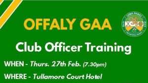 Club Officer Training On Thurs. 27th February
