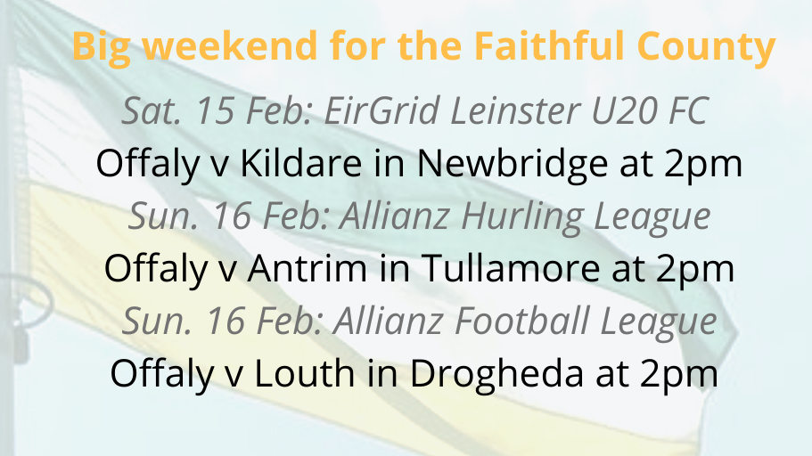 Three Offaly Teams In Action Next Weekend