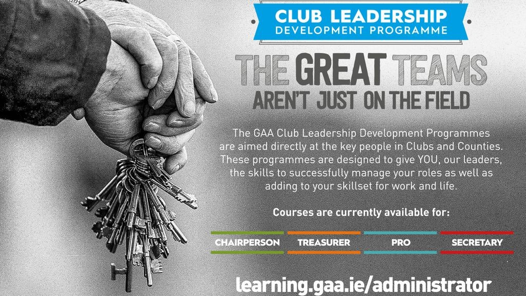 Club Officers Encouraged To Register With GAA Learning Portal