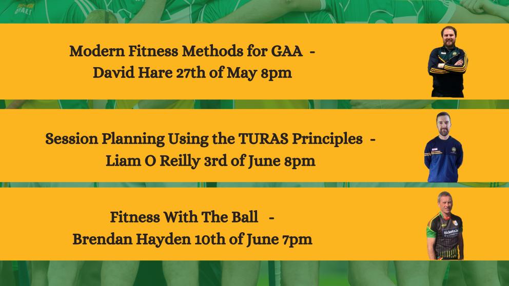 More Offaly GAA Coaching Webinars Coming Up