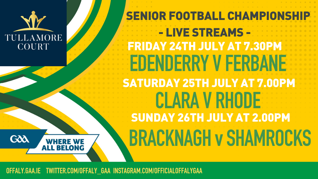 Offaly GAA To Stream SFC Games Live