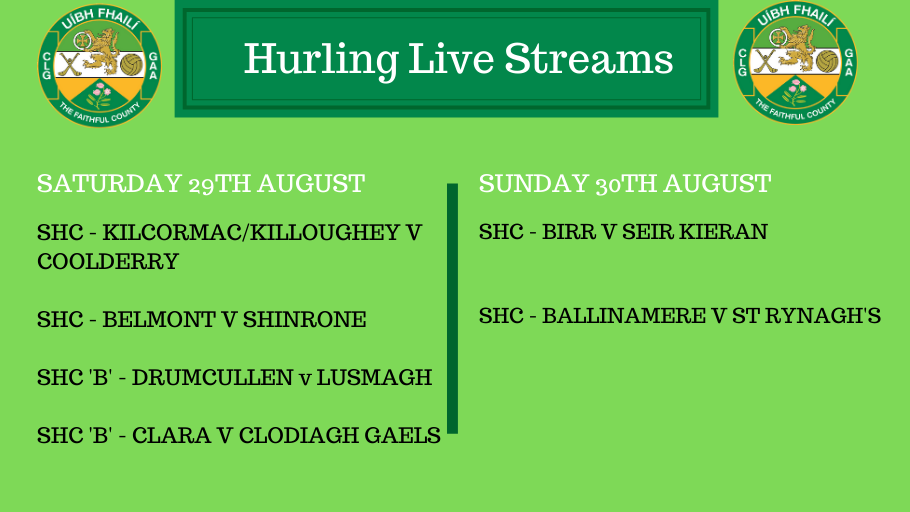 Exciting Weekend Of Hurling Action In Store