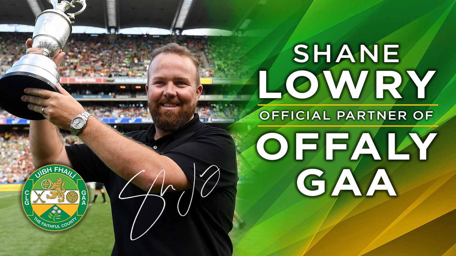Shane Lowry Becomes An Official Partner With Offaly GAA